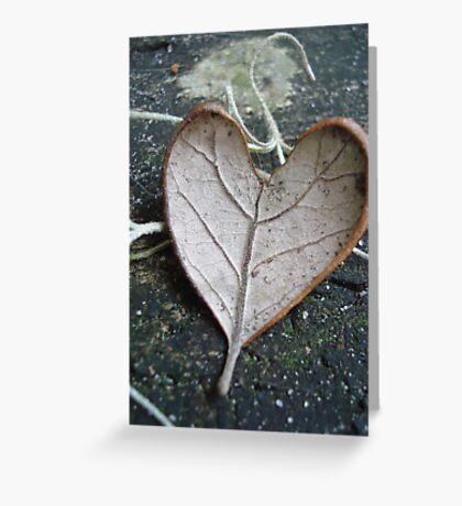 """The """"I Love You"""" Leaf Greeting Card"""