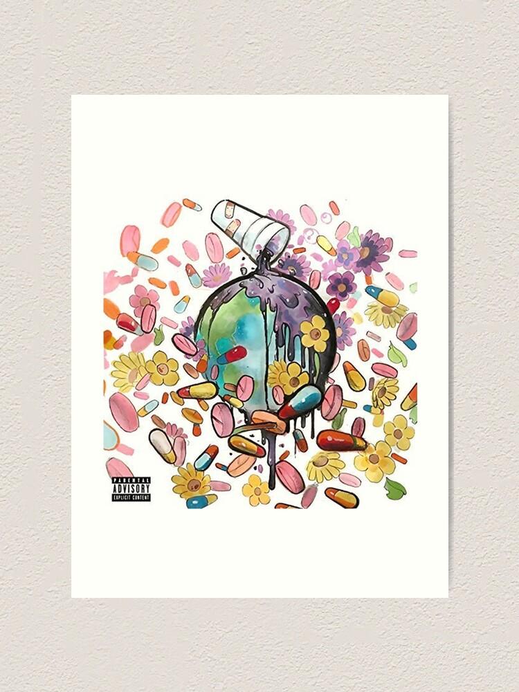 "Future /& Juice WRLD Present.. WRLD on Drugs Cover Poster Art Print 20×20 24×24/"""