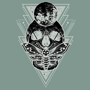 Sacred Geometry Death's-head Moth by NomadicMarket