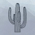 Deserted Cactus - chevron slate  by Gale Switzer