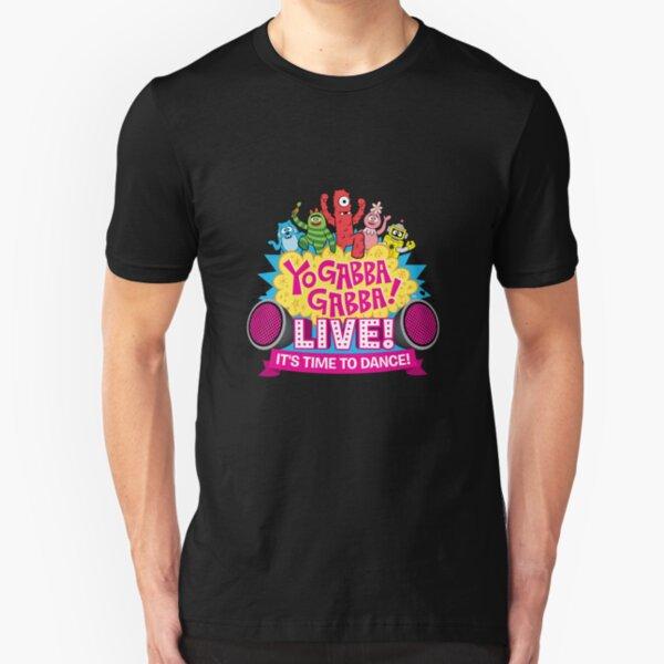 Yo Gabba Gabba Live It's Time To dance Slim Fit T-Shirt