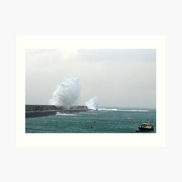 Alderney Breakwater Art Print