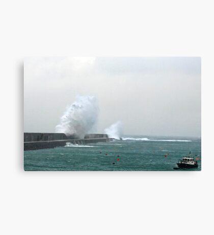 Alderney Breakwater Canvas Print