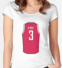 Chris Paul Jersey Women s Fitted Scoop T-Shirt 6cf4bf8122