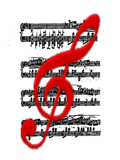 Musical notation-  Art + Products Design  by haya1812