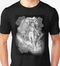 Throw Me To The Wolves (black pen and ink) Unisex T-Shirt