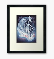 Throw Me To The Wolves (watercolour edition) Framed Print