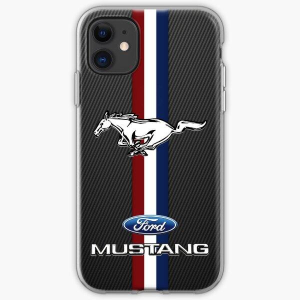 Ford Mustang Emblem Black carbon iPhone Soft Case