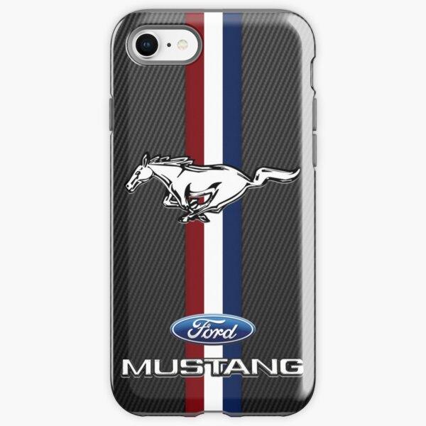 Ford Mustang Emblem Black carbon iPhone Tough Case