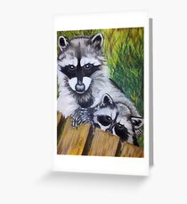 Racoons Greeting Card