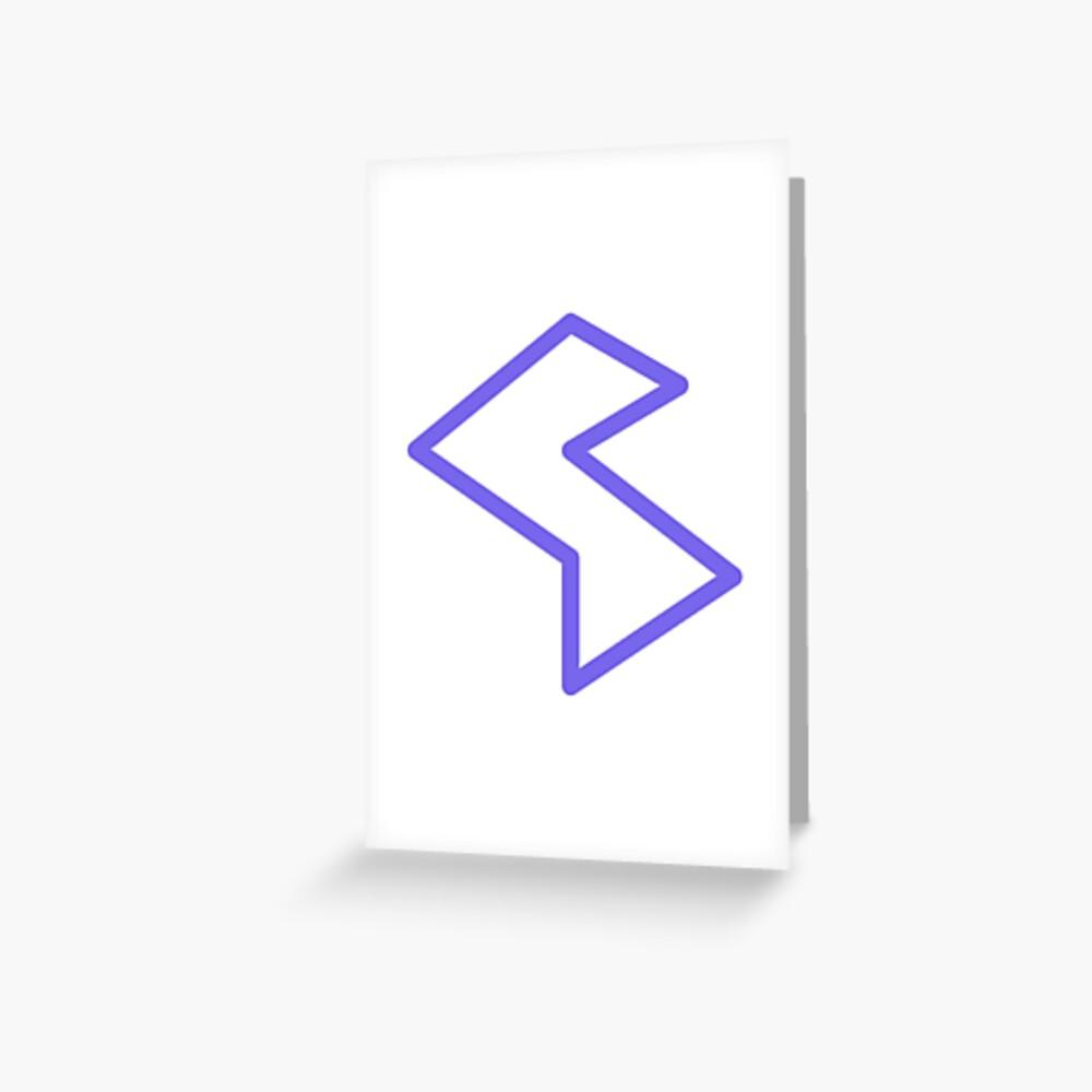 Streamia Lightning Greeting Card