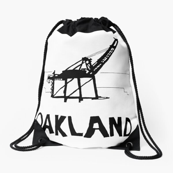 Oakland California Drawstring Bag