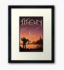 Titan Travel Poster Framed Print