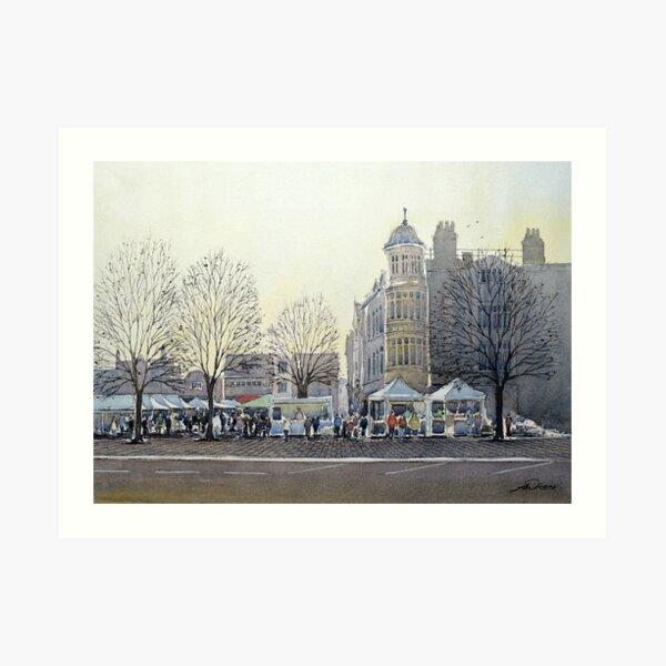 Market Day, Salisbury. Art Print