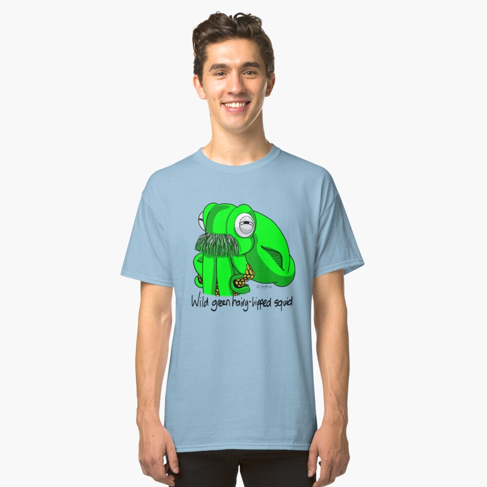 Wild Green Hairy Lipped Squid #4 Classic T-Shirt Front