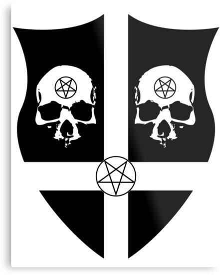 Lienzos Metálicos Las Calaveras Satánicas De Armas De Weltenbrand