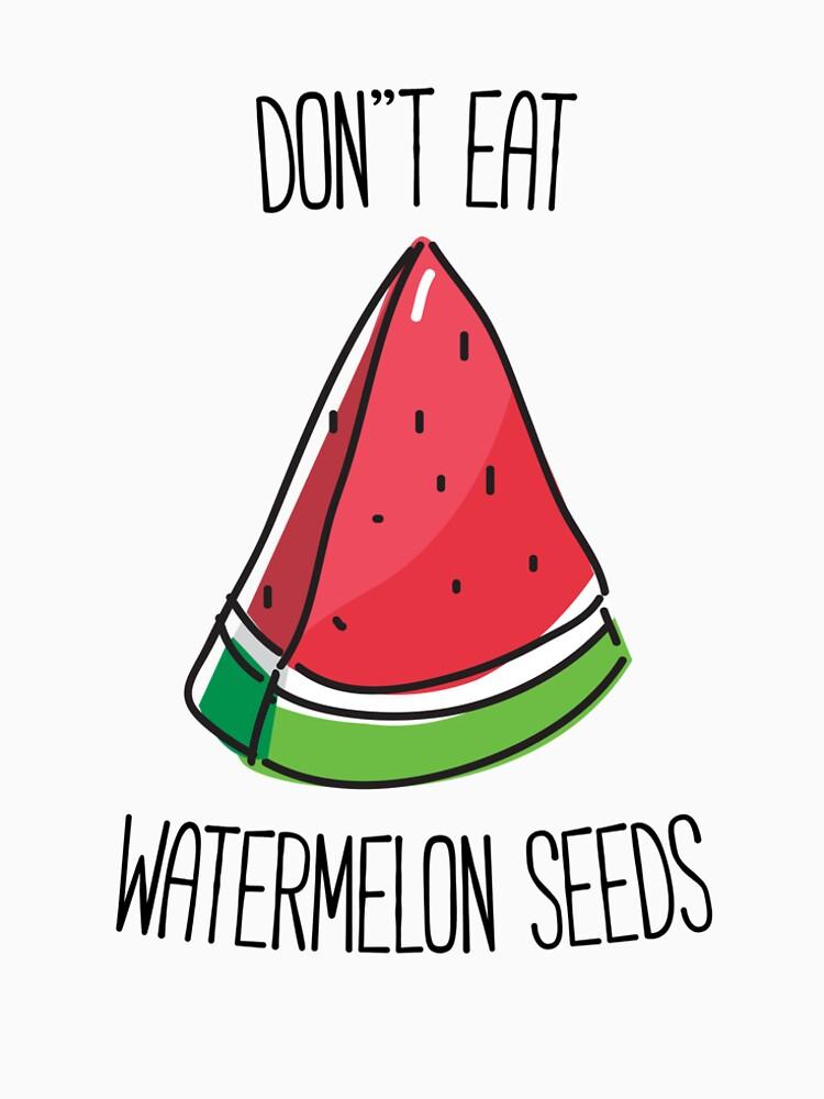 Lustiges schwangeres essen nicht Wassermelone-Samen-T-Shirt von RedYolk