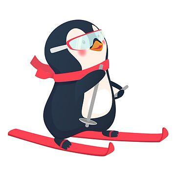 penguin on skis by OllegNik