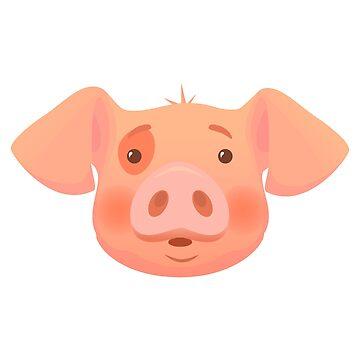 head of pink pig by OllegNik