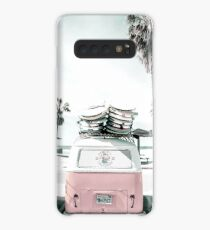 Funda/vinilo para Samsung Galaxy Rosa kombi van surf art en pastel