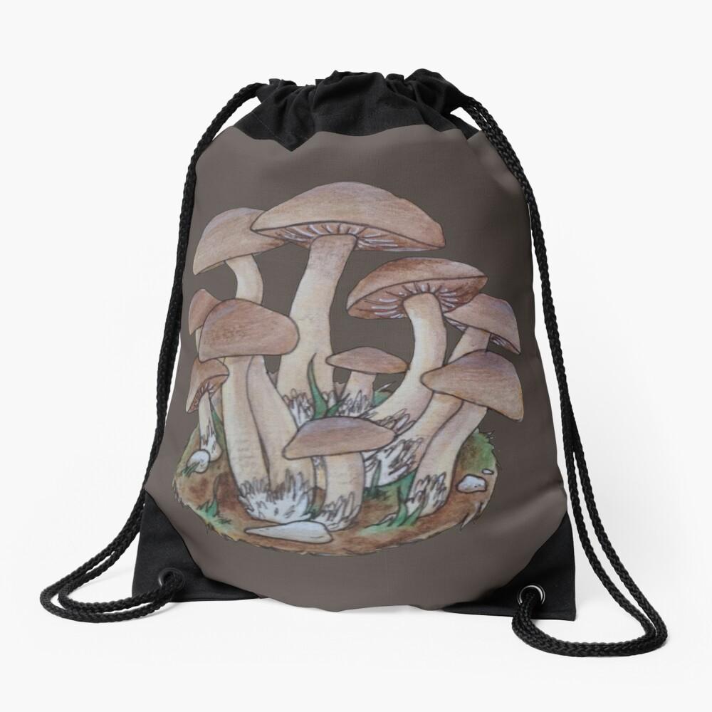Mushroom Cluster  Drawstring Bag