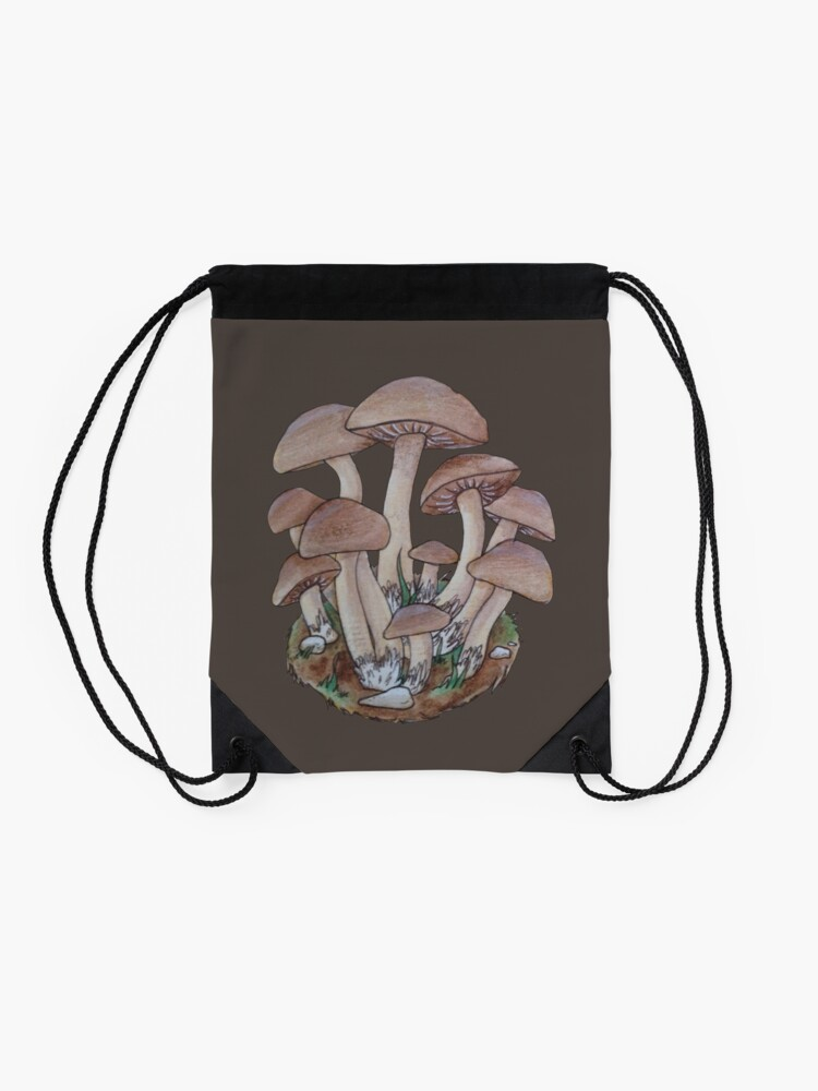 Alternate view of Mushroom Cluster  Drawstring Bag
