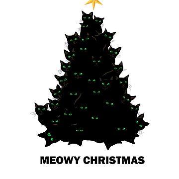 Cute Merry Meowy Christmas Funny Cat Lover xmas  by dukito