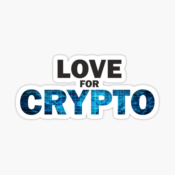 Love For Crypto Logo Sticker