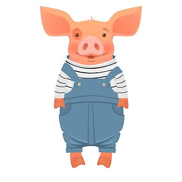 pig in overalls by OllegNik