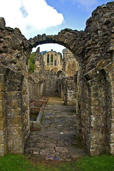 Through The Passageway - Rievaulx Abbey by Trevor Kersley