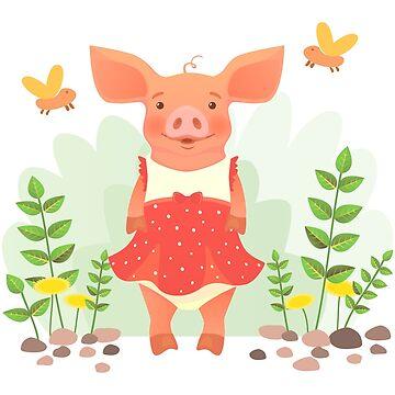 piggy in dress by OllegNik