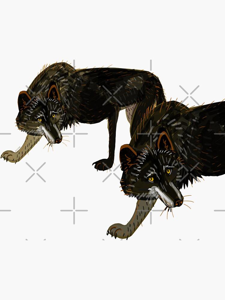Totem black Buffalo wolf (nubilus)  de belettelepink