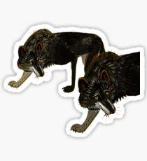 Pegatina Totem black Buffalo wolf (nubilus)