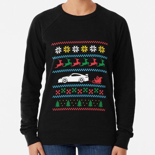 Voiture de sport style Noël tricoté drôle Sweatshirt léger