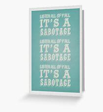 Tarjeta de felicitación Sabotaje