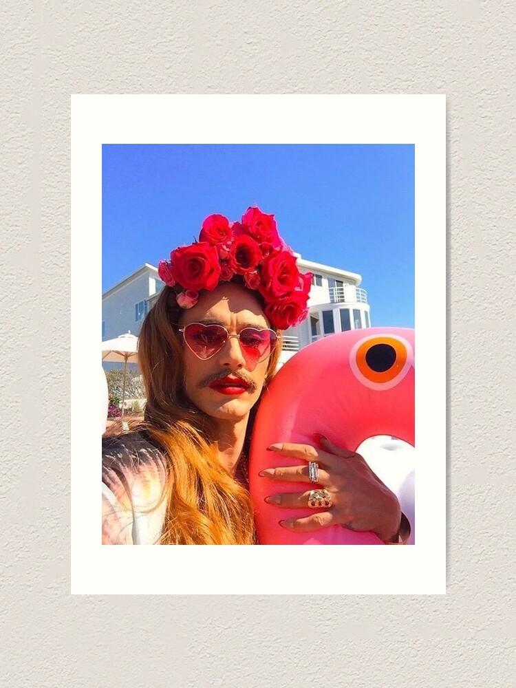 James Franco As Lana Del Rey Art Print By Hlncxiiiv Redbubble