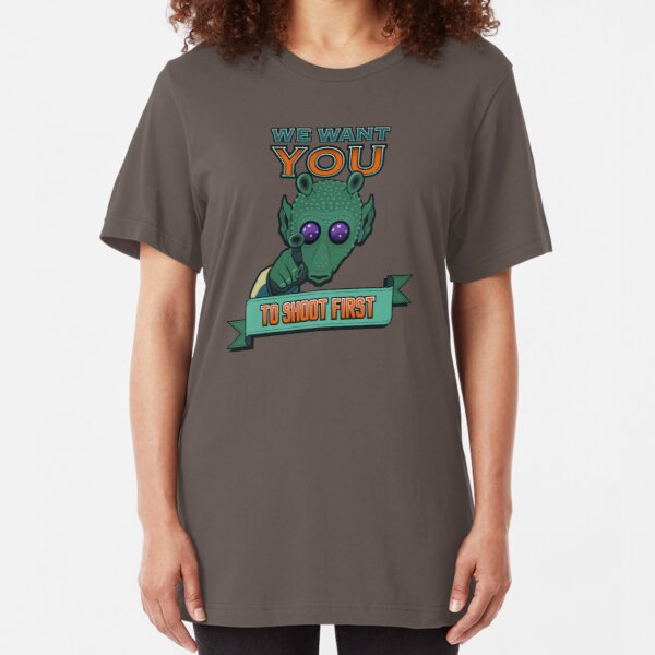 Greedo Wants You To Shoot First Slim Fit T-Shirt