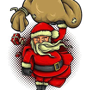 Super Santa T-Shirt - Funny Santa Claus Christmas Hero Tee by JeksonJS