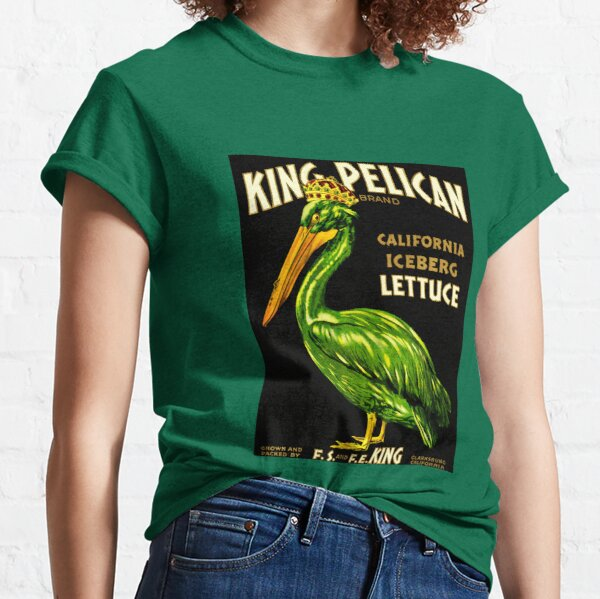 King Pelican Brand Vintage Lettuce Food Advert Classic T-Shirt
