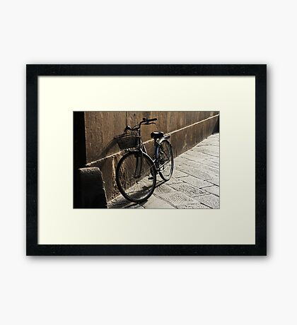 Lonely Bike Framed Print