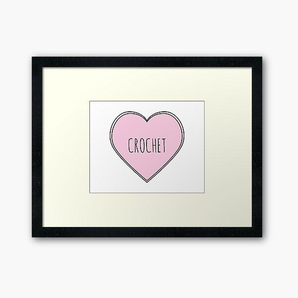 Crochet Heart Framed Art Print