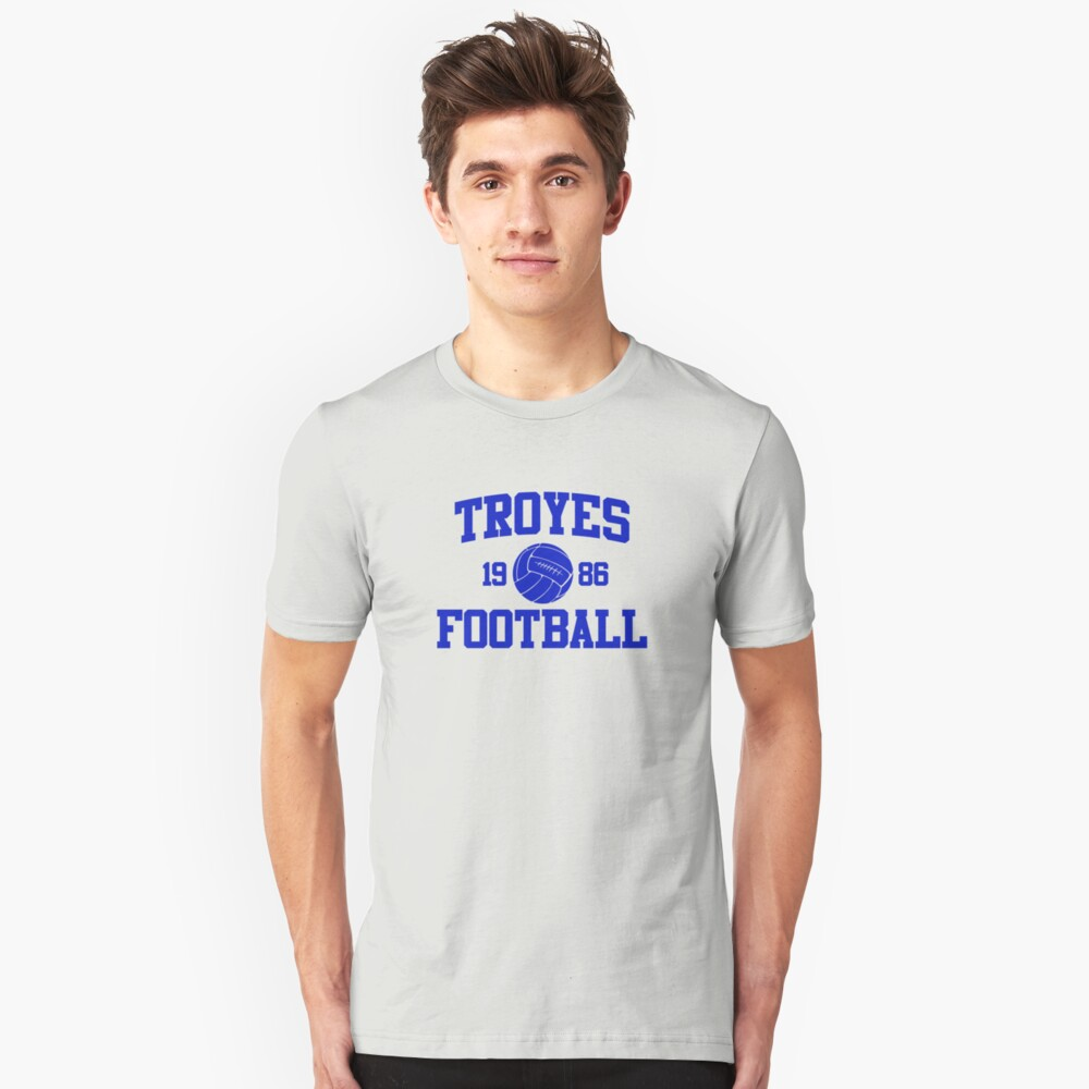 Troyes Football Athletic College Style 2 Gray Unisex T-Shirt Front