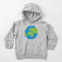 Earth Globe Icon Toddler Pullover Hoodie