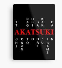 Akatsuki Naruto edition Metal Print