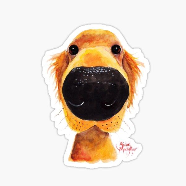 Labrador / Golden Retriever PRiNT ' NoSeY DoG RoY ' BY SHiRLeY MacARTHuR Sticker