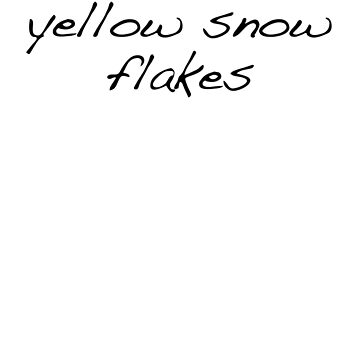 Yellow Snow Flakes by ademcfade