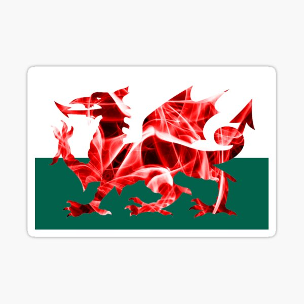 The Welsh Smoke Dragon Sticker