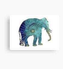 Elephant blue maps Canvas Print