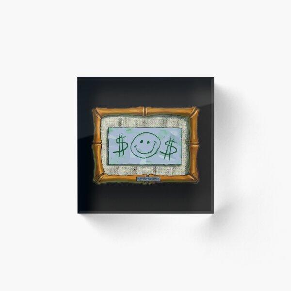 $$ Mr. Krabs First Dollar $$ Acrylic Block