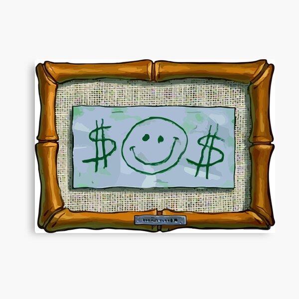 $$ M. Krabs Premier dollar $$ Impression sur toile